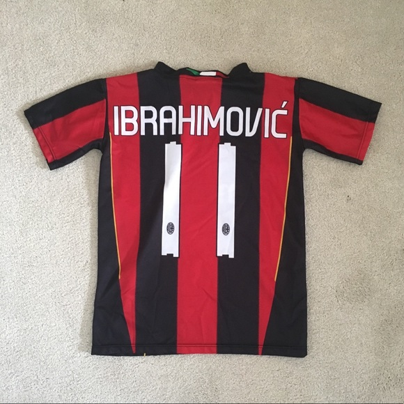 best website ed493 72255 AC Milan #10 Ibrahimovic jersey youth small